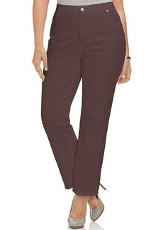 Charter Club Plus Size Kate Straight-Leg Jeans, Rich Truffle Wash