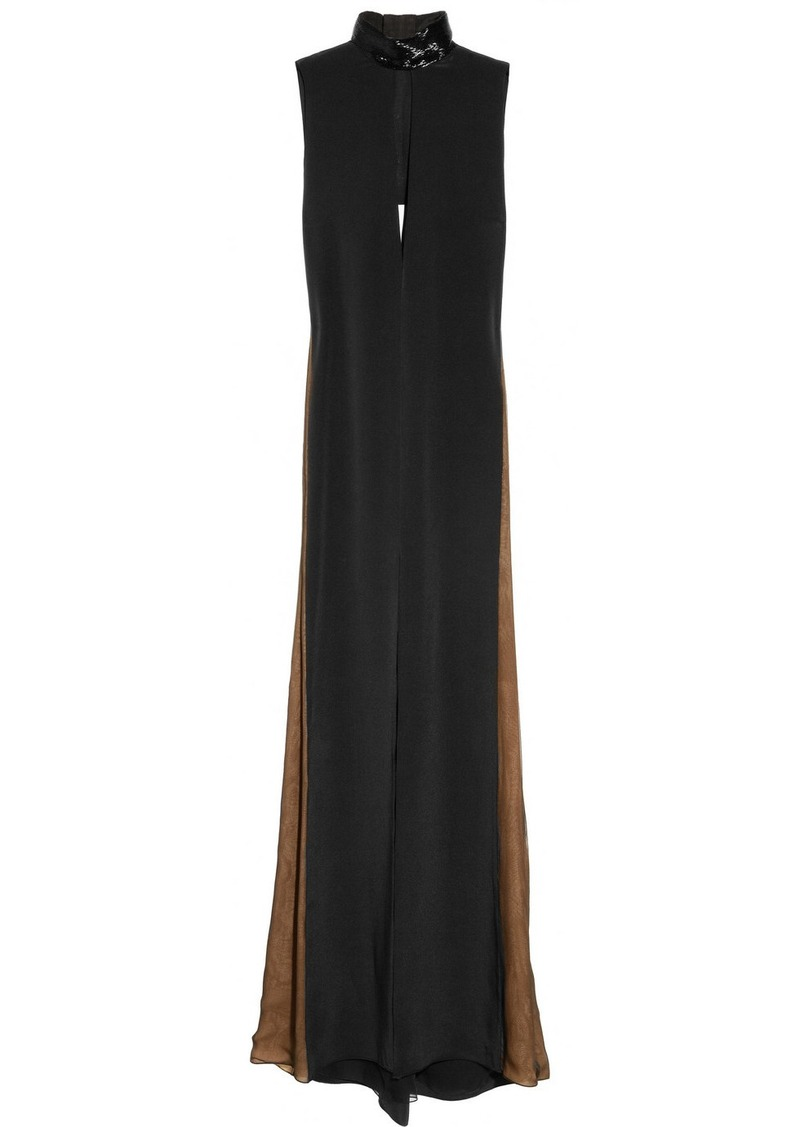 Emilio Pucci Bead-embellished silk gown