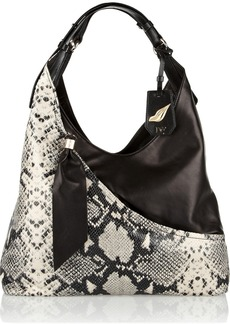Diane von Furstenberg Snake-effect leather shoulder bag