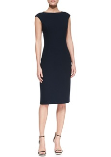 Michael Kors Boucle Cap-Sleeve Sheath Dress, Midnight