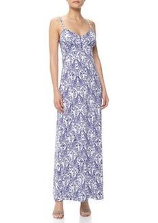 Susana Monaco Sleeveless Ikat-Print Jersey Maxi Dress, Dawn