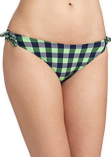 Shoshanna Gingham Bow Bikini Bottom