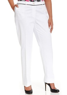 Jones New York Collection Plus Size Grace Straight-Leg Trousers