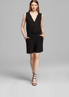 DKNY Pure V-Neck Sleeveless Romper