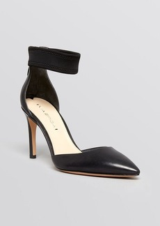 Via Spiga Pointed Toe Ankle Strap Pumps - Ife High Heel