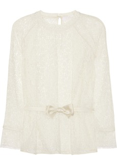 Chloé Belted lace blouse