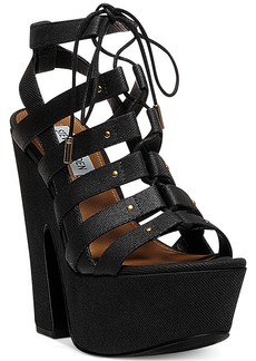 Steve Madden Women's Gagga Caged Platform Wedge Sandals