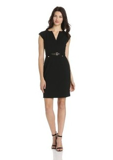 Calvin Klein Women's Sheath Dress With Gold-Tone Hardware