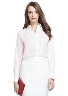 Non-Iron Classic Fit Thin Stripe Dress Shirt