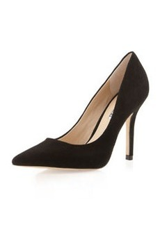 Charles David Sway II Pointy Suede Pump, Black
