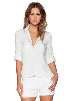 7 For All Mankind 3/4 Sleeve Open Back Shirt