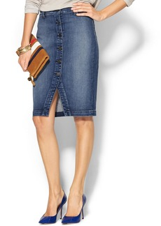 7 For All Mankind Button Front Pencil Skirt