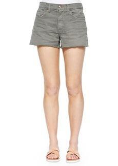 7 For All Mankind Cutoff Denim Shorts, Fatigue