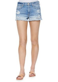 7 For All Mankind Distressed Cutoff Shorts, Aura Blue Heritage