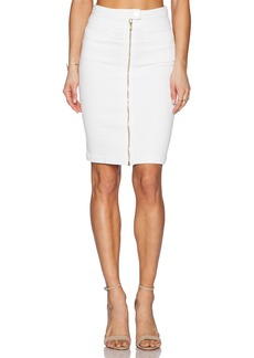 7 For All Mankind Front Zip Pencil Skirt