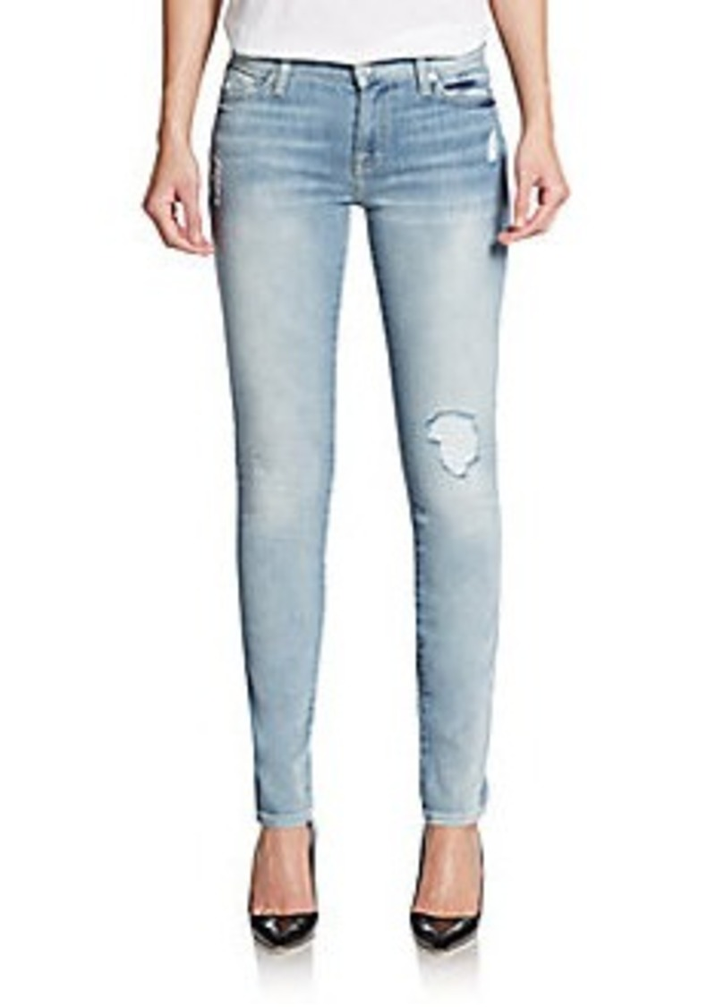7 for all mankind 7 for all mankind gwenevere distressed skinny jeans denim shop it to me. Black Bedroom Furniture Sets. Home Design Ideas
