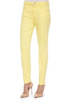 7 For All Mankind High-Rise Skinny Ankle Jeans, Dandelion