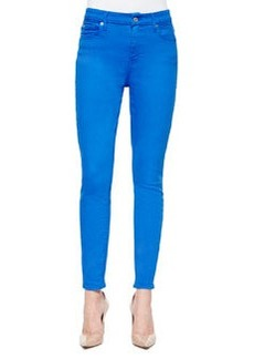 7 For All Mankind High-Waist Ankle Skinny Jeans, Ultra Marine