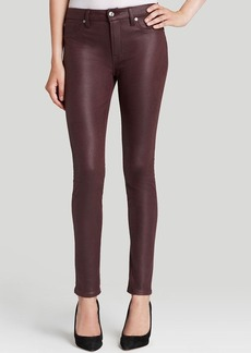 7 For All Mankind Jeans - Bloomingdale's Exclusive High Waist Skinny in Burgundy Crackle