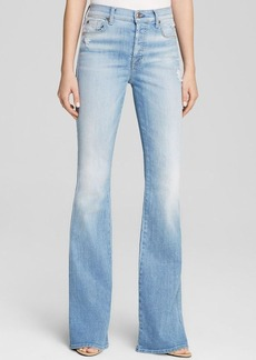 7 For All Mankind Jeans - Bloomingdale's Exclusive High Waist Vintage Bootcut in Light Sky Blue