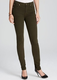 7 For All Mankind Jeans - Brushed Sateen Skinny in Hunter Green