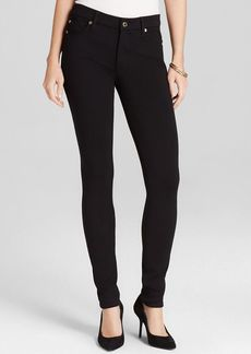 7 For All Mankind Jeans - Double Knit High Waist Skinny in Black