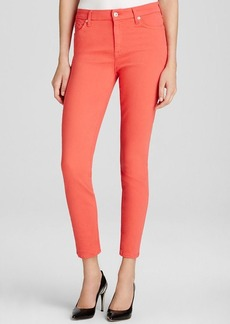 7 For All Mankind Jeans - High Waist Ankle Skinny in Coral