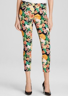 7 For All Mankind Jeans - High Waist Crop Skinny in Floral Tropics Print