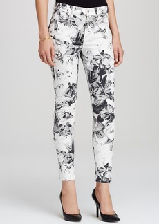 7 For All Mankind Jeans - High Waist Skinny in White XRay Floral
