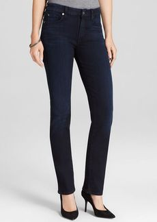 7 For All Mankind Jeans - Kimmie Straight in Lilah Blue Black