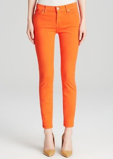 7 For All Mankind Jeans - The High Waist Ankle Skinny in California Poppy