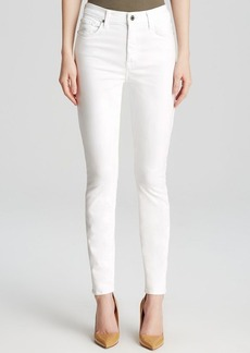 7 For All Mankind Jeans - The High Waist Ankle Skinny in White Sateen