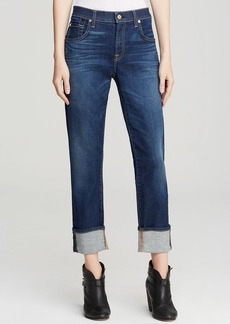 7 For All Mankind Jeans - The Relaxed Skinny in Genuine Medium Indigo
