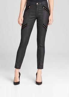 7 For All Mankind Jeans - Velvet Zip Moto Skinny in Black
