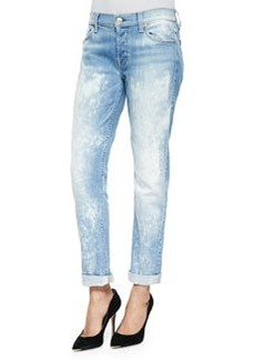 7 For All Mankind Josefina Distressed Bleached Slim Boyfriend Jeans