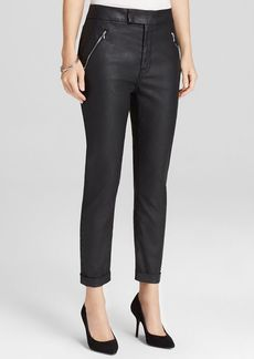 7 For All Mankind Pants - Faux Leather Slant Zip