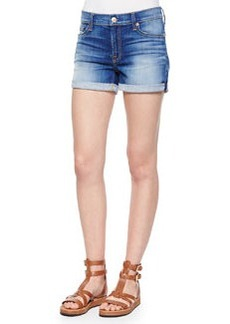 7 For All Mankind Roll Up Denim Shorts, Brilliant Azure