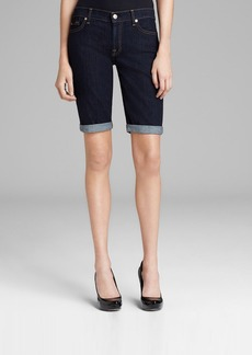 7 For All Mankind Shorts - Bermuda in Ink Rinse