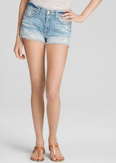 7 For All Mankind Shorts - Cut Off with Aggressive Destroy