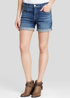 7 For All Mankind Shorts - Relaxed Rolled in Medium Broken Twill