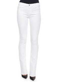 7 For All Mankind Skinny Boot-Cut Denim Jeans, White