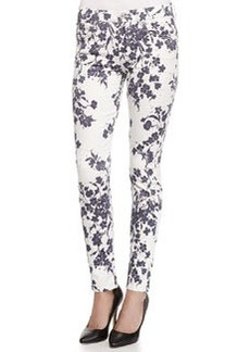 7 For All Mankind The Ankle Floral-Print Skinny-Fit Jeans