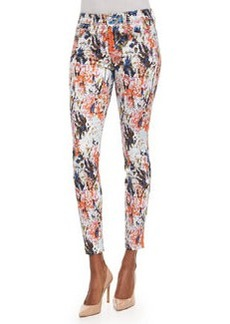 7 For All Mankind The Ankle Skinny Jeans, Floral Haze
