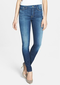 7 For All Mankind® High Rise Skinny Jeans (Aggressive Heritage Blue)