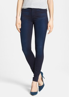 7 For All Mankind® High Rise Skinny Jeans (Blue Black Sateen)
