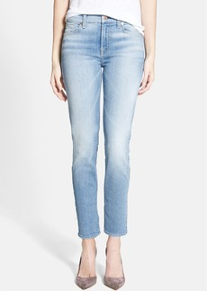 7 For All Mankind® 'Kimmie' Crop Skinny Jeans (Light Sky Blue)