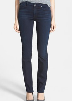 7 For All Mankind® 'Kimmie' Mid Rise Straight Jeans (Lilah Blue Black)