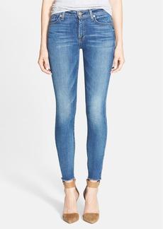 7 For All Mankind® Raw Hem Skinny Jeans (Destroyed Rue De Lille 2)