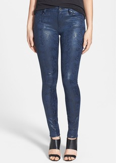 7 For All Mankind® Snake Pattern Skinny Pants
