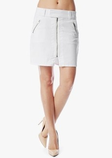 A-line Skirt With Exposed Zips in White Fashion
